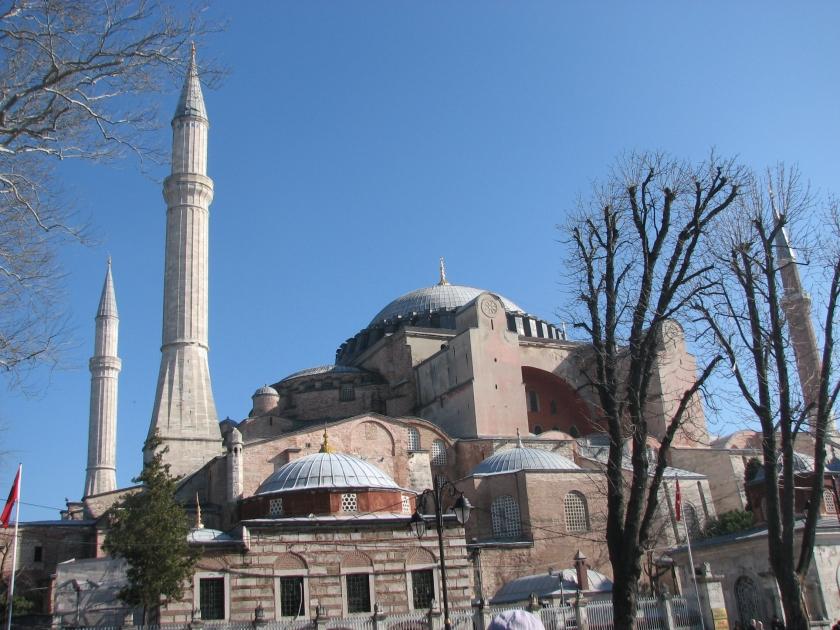 Hagia Sophia, exterior. Copyright D A Miller 2013
