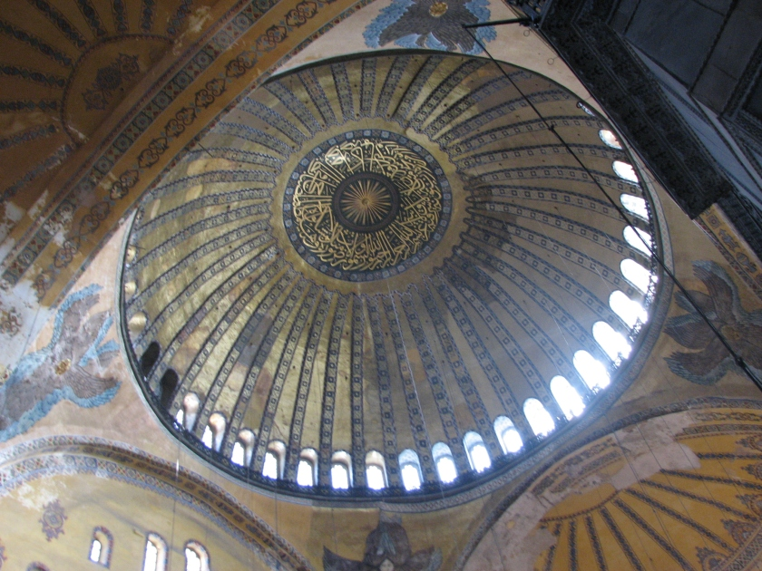 Interior Dome of the Hagia Sophia, copyright D A Miller 2013