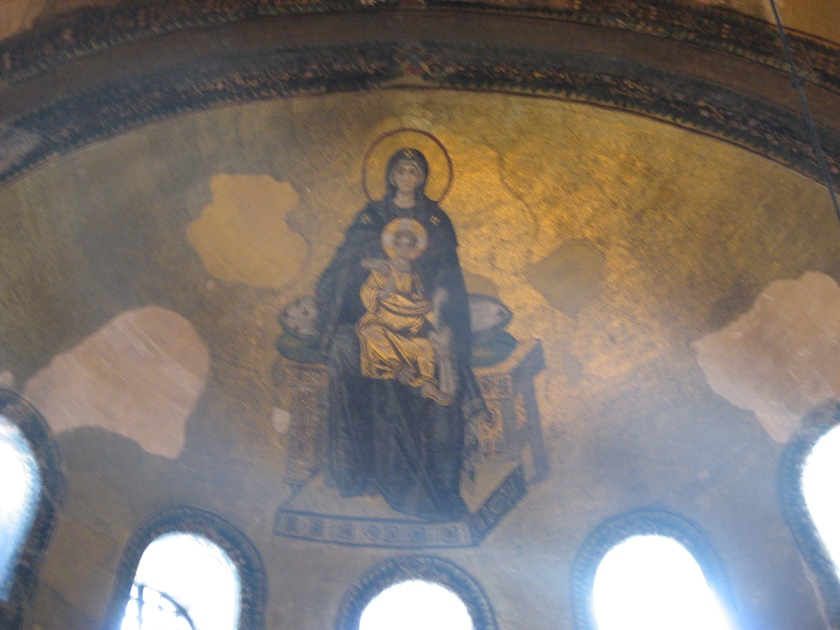 Hagia Sophia, Virgin & Child Mosaic. Copyright D A Miller 2013