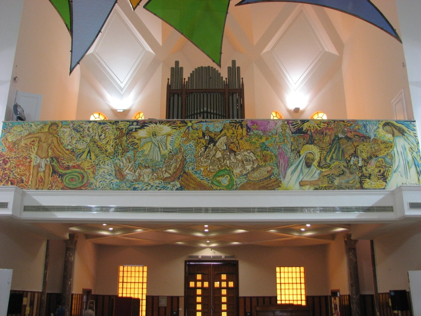 Mural over entrance to cathedral