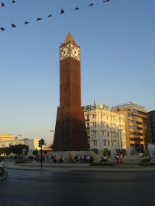 The Clock Tower on Bourqiba Avenue