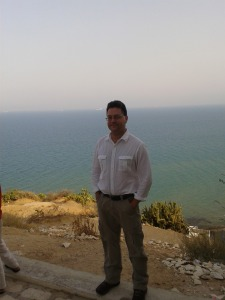 Me, with the Med in the background