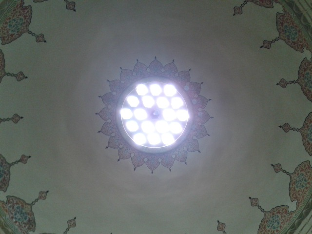 Some domes have skylights.