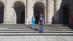 Miller kids at San Lorenzo de el Escorial
